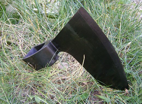 Hewing Goosewing Bearded Broad Axe Head