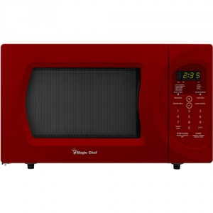 Magic Chef 0.9 cu. ft. Countertop Microwave in Red