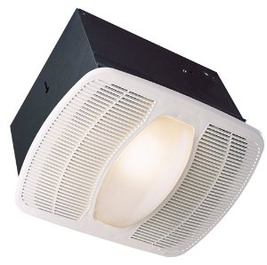 Air King AK100L Deluxe Bath Fan with Light and Night Light, Rectangular