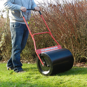 FOX 65 Steel Garden Lawn Roller 500mm Working Width with Comfort Grip