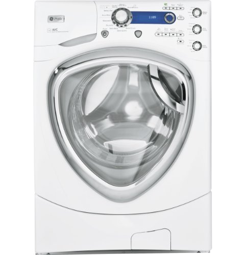 GE 4.3 Cu. Ft. White Front Load Steam Washer