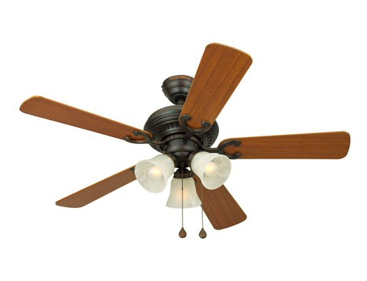 Harbor Breeze 44 inches Bellevue White Ceiling Fan