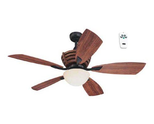 Harbor Breeze 52 inches Teak Black Ceiling Fan