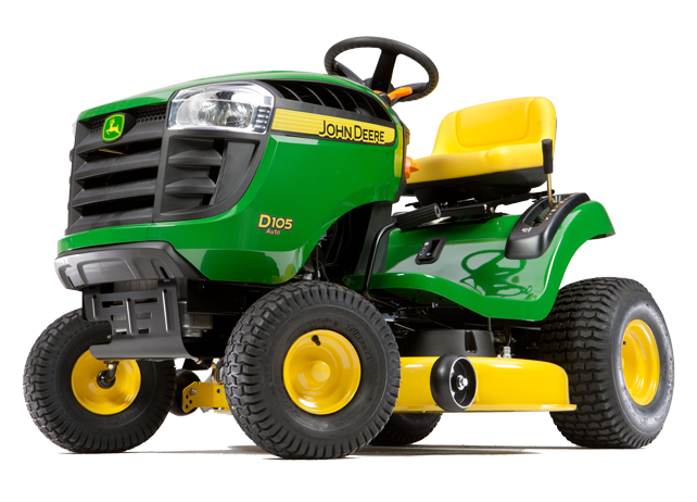 John Deere 105 Series 17.5 HP Automatic 42-in Riding Lawn Mower with Briggs & Stratton Engine