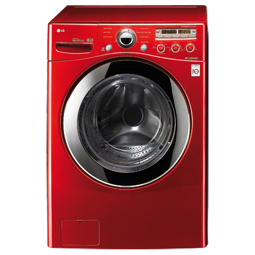 LG 4.3 Cu. Ft. Front Load Washer (WM2350HRC) - Candy Apple Red