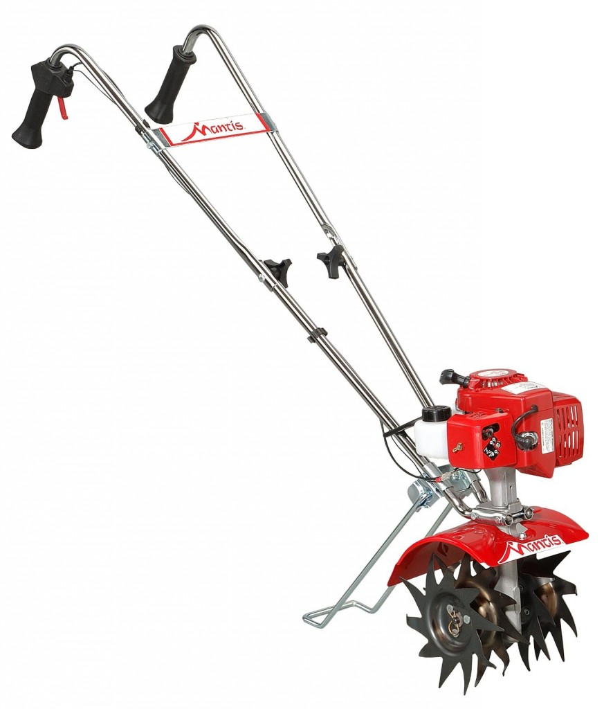 Mantis 7225-15-02 2-Cycle Gas-Powered Tiller Cultivator with Border Edger and Kickstand (CARB Compliant)