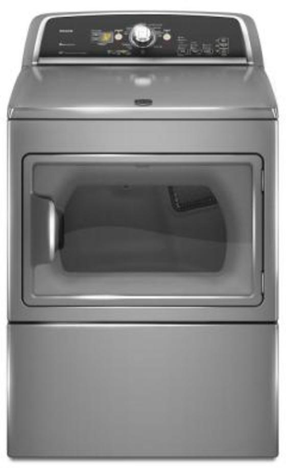 Maytag Bravos X 7.4 cu. ft. Electric Dryer in Liquid Silver