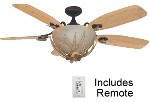 5 best rustic ceiling fans add a dash of elegance and style to mesa vista rustic ceiling fan with antler fan light aloadofball