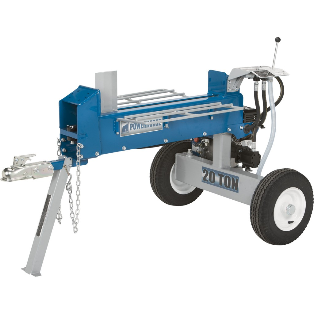 Powerhorse Horizontal Dual Split Log Splitter — 20-Ton, 208cc
