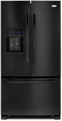 Whirlpool Gold 25.5 cu ft French Door Refrigerator (Black) ENERGY STAR