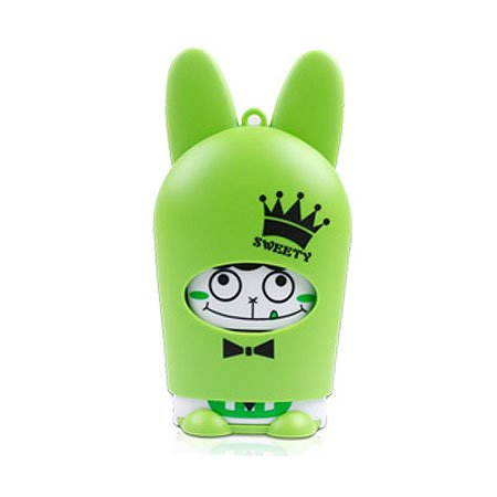 Cute Hand-Held Cartoon Animals Soft Blades Battery Operated Portable Cooling Fan