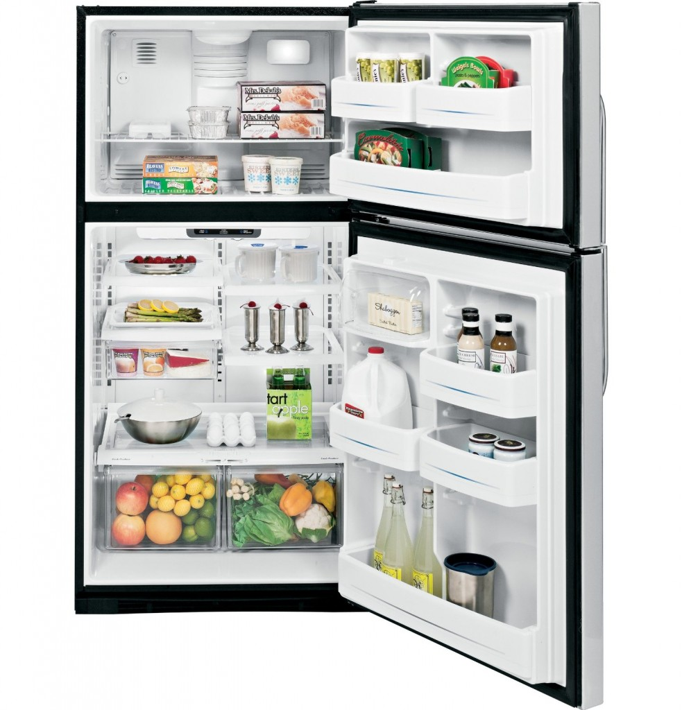 GE 21.7 Cu Ft Stainless Refrigerator