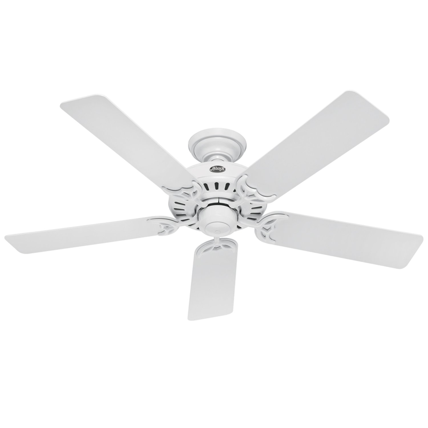 White Ceiling Fans Without Lights & Becuo