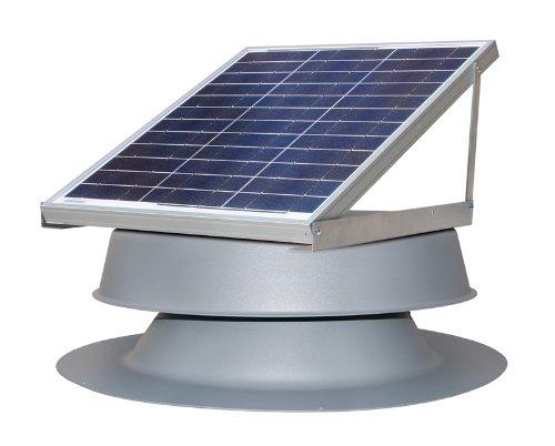 Solar Attic Fan 30-watt - Black - with 25-year Warranty - Florida Rated