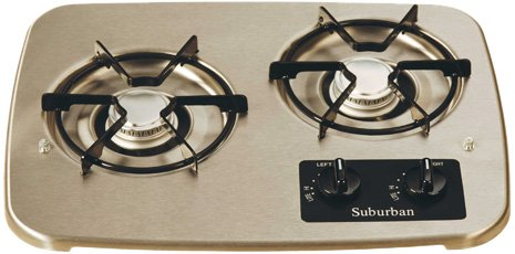 Suburban 2937AST 2-Burner Stainless Cooktop