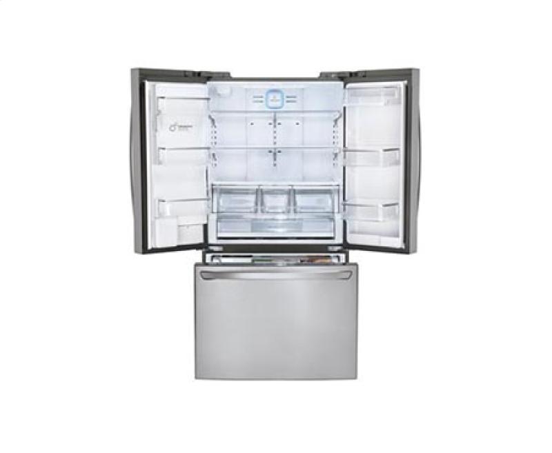 Super-Capacity 3 Door French Door Refrigerator