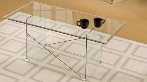 Atrium Coffee Table in Clear Finish