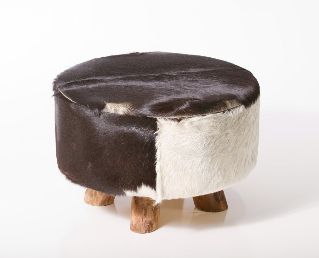 Bare Decor Large Round Leather