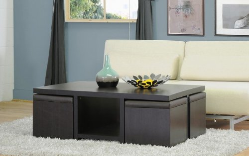 5 best coffee table with stools a perfect fit tool box for Coffee table with stools underneath