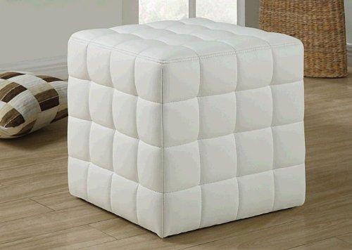 Benno Cube Ottoman – White