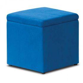 Superbe Blue Storage Ottoman