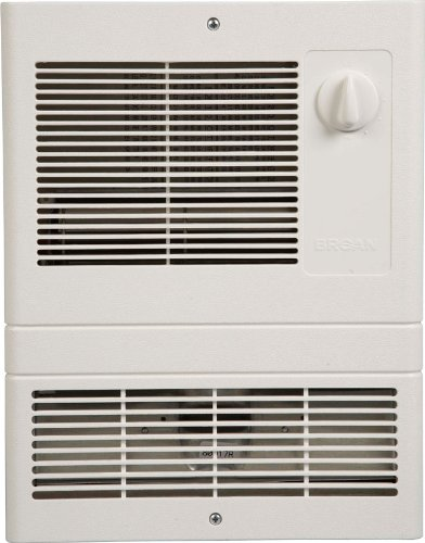 Wall mounted fan heater for bathroom
