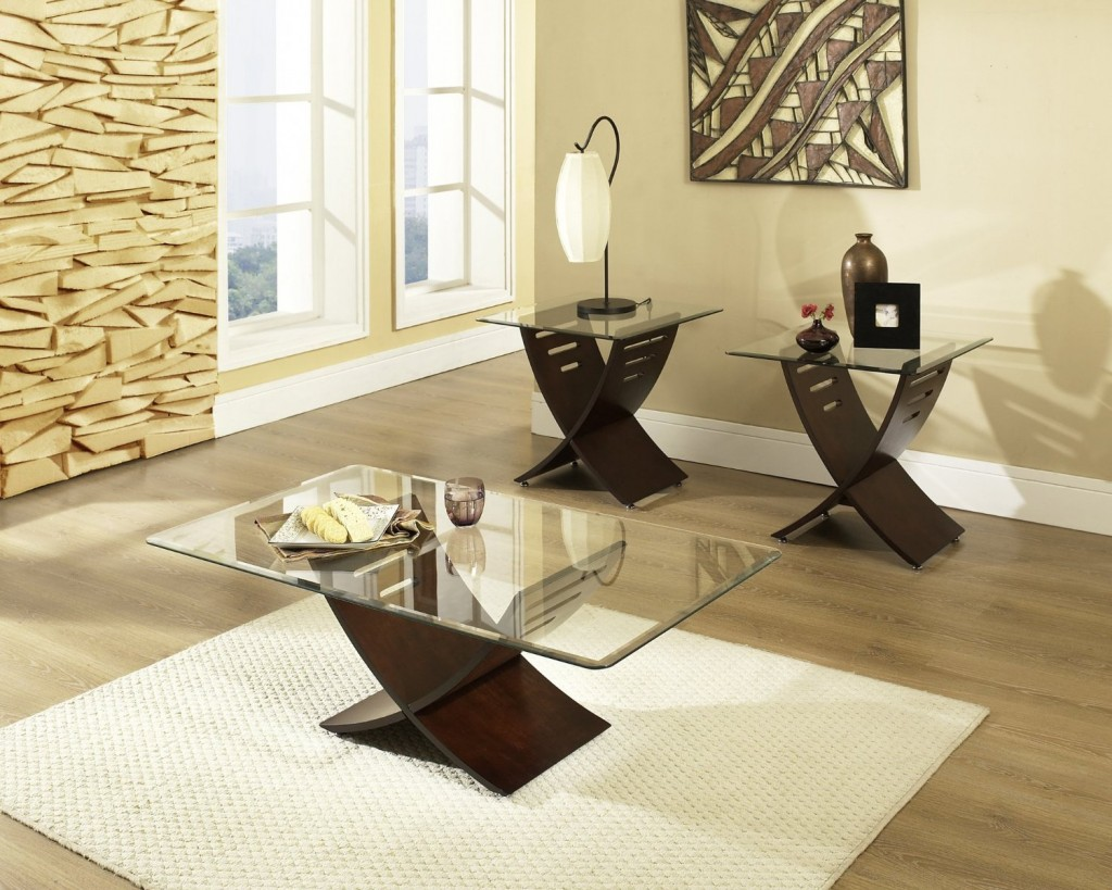 Cafe 3 piece occasional table set espresso centre tables for living room