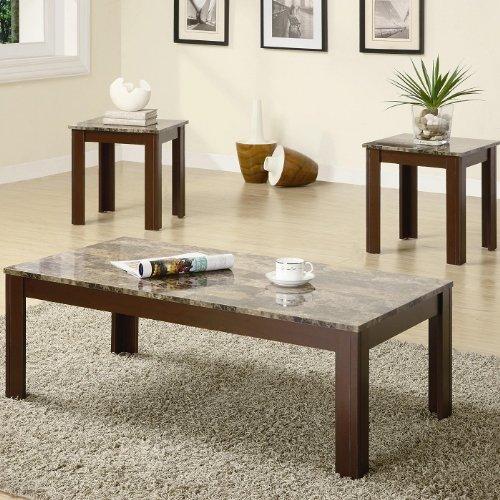 Coaster Fine Furniture 700395 3-Piece Coffee Table