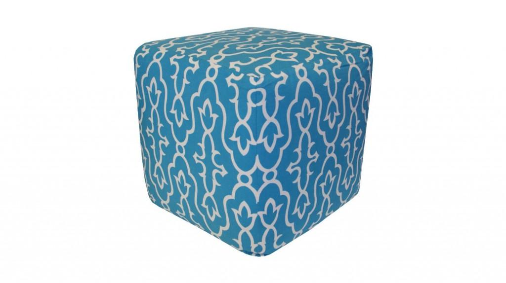 Divine Designs Maira Pouf, Blue
