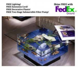 5 Best Aquarium Coffee Tables – Mixture combining fish tank and table