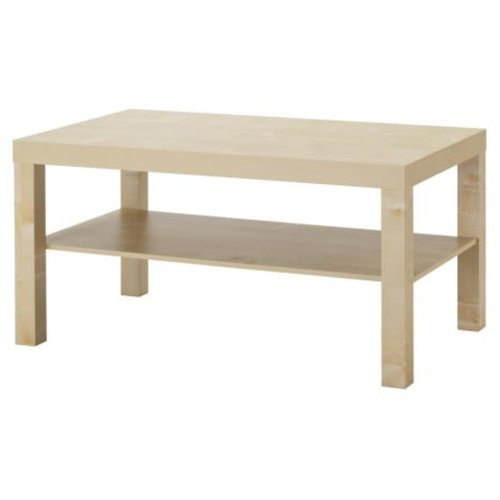 Modern Lack Coffee Table Birch