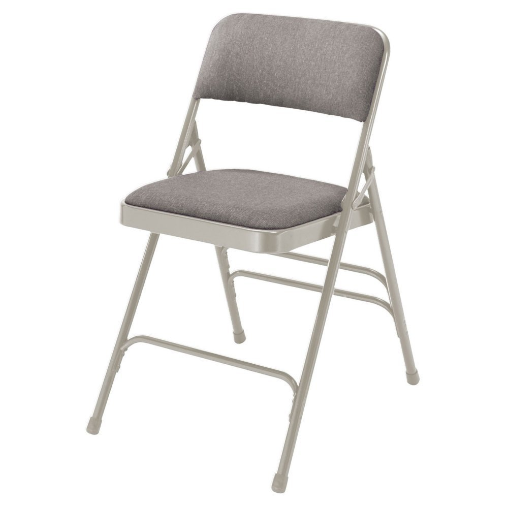 National Public Seating Premium Fabric Triple Brace Folding Chair - 4 Pack