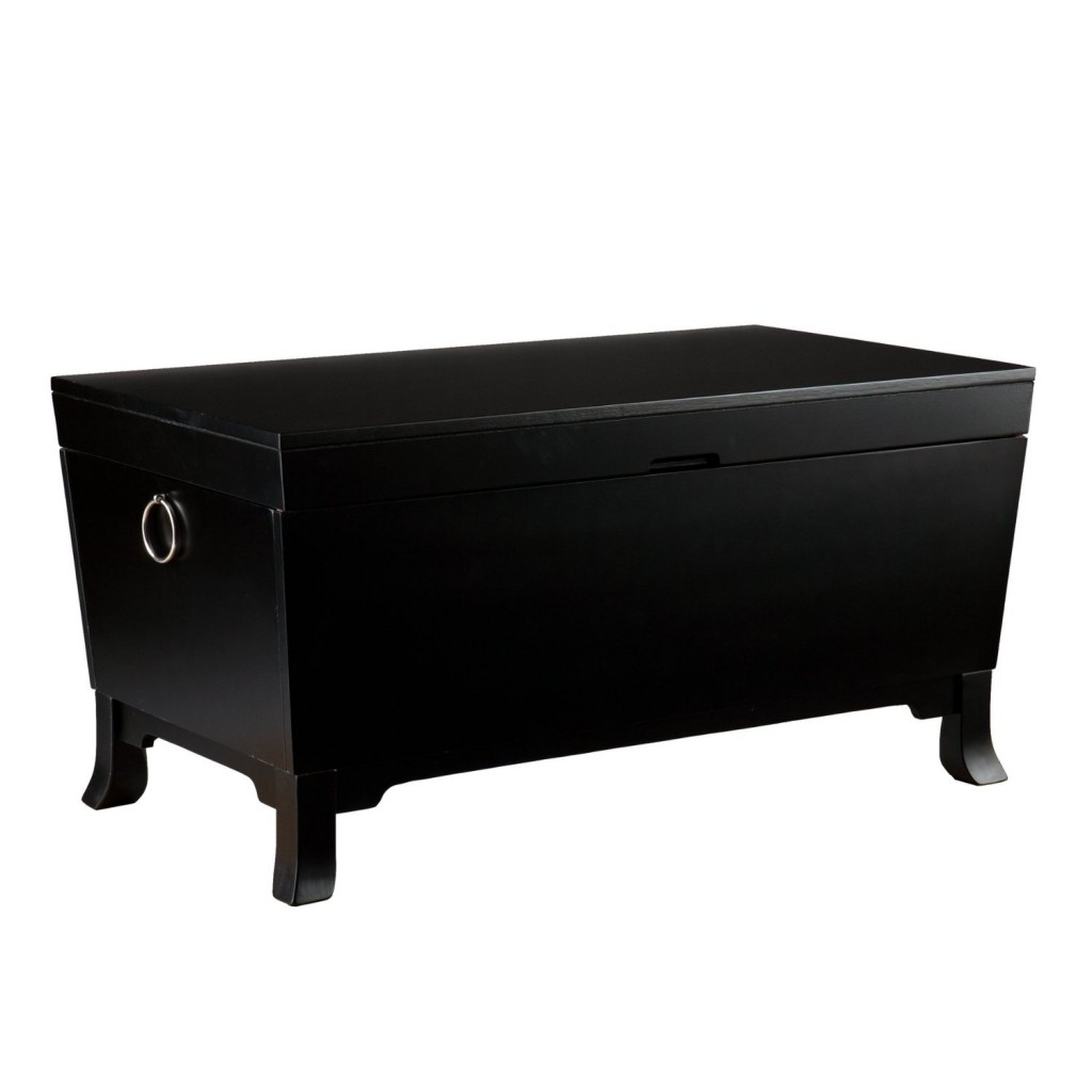 SEI Franklin Cocktail Coffee Table Trunk, Black