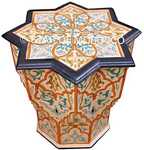 Small Cream Star Moroccan Table