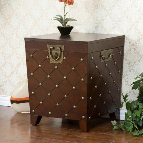 Southern Enterprises Nailhead Coffee Table Trunk - Espresso
