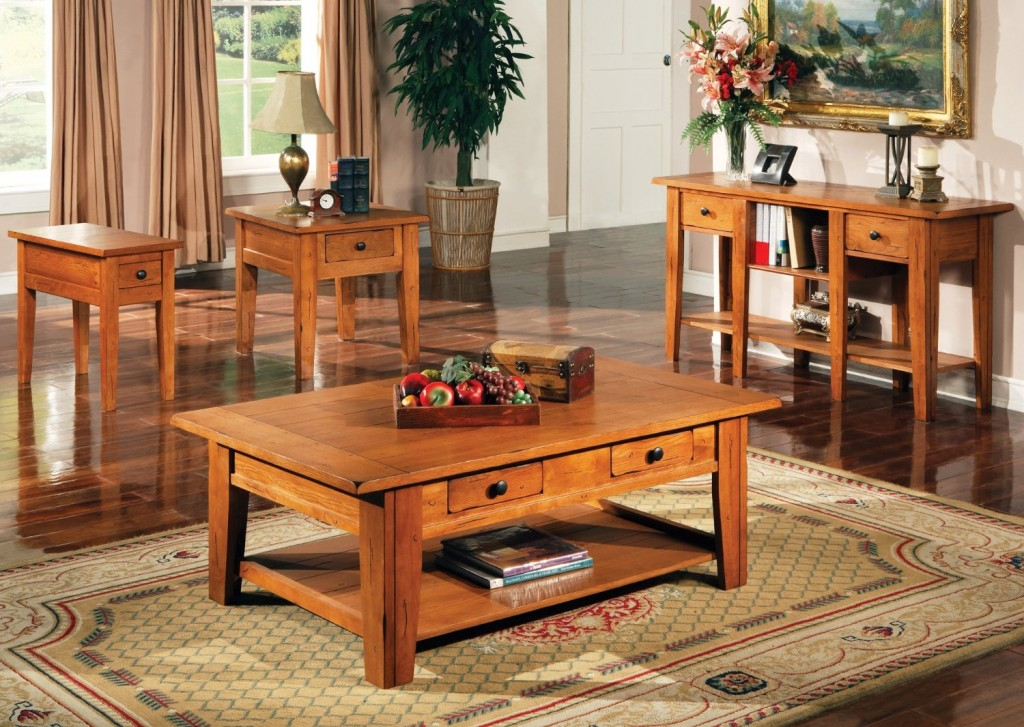 Steve Silver Liberty Coffee Table in Oak