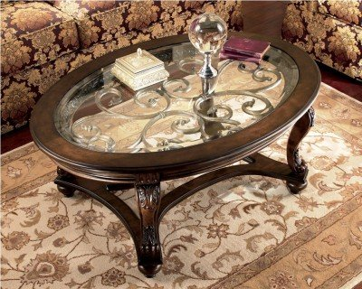 Traditional Dark Brown Norcastle Cocktail Table