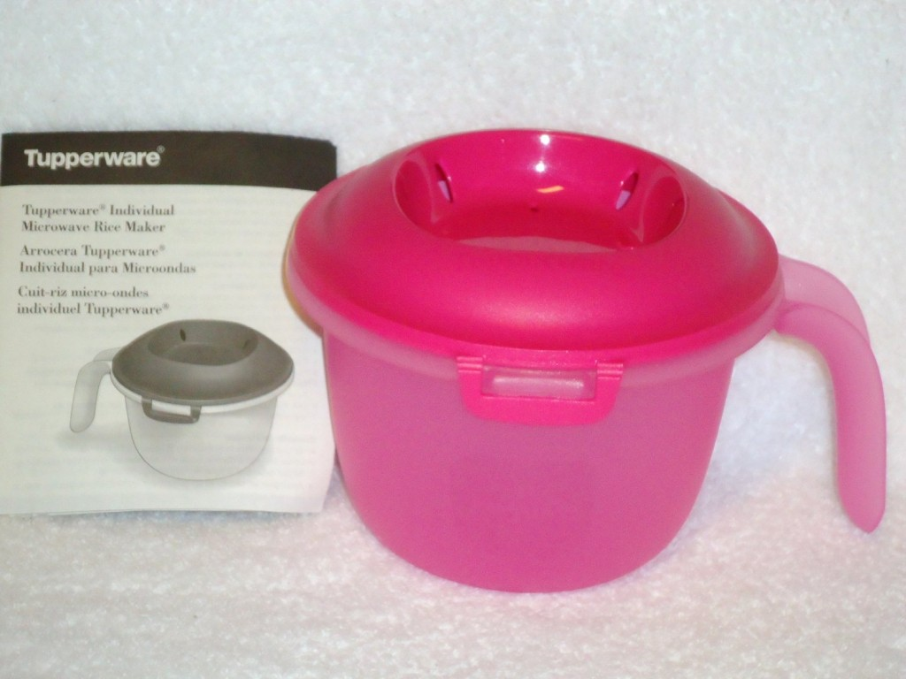 Tupperware 2.25c Microwave Rice Quick Cooker Steamer NEW Pink