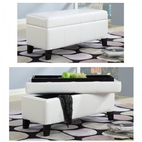 Modus Furniture Urban Seating Storage Bench Natural Linen: 5 Best White Ottoman €� Fit Nicely To Any Décor
