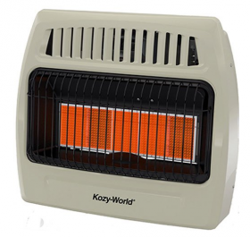 WORLD MKTG OF AMERICA IMPORT KWP522 5 Plaque 30000 BTU LP Wall Heater