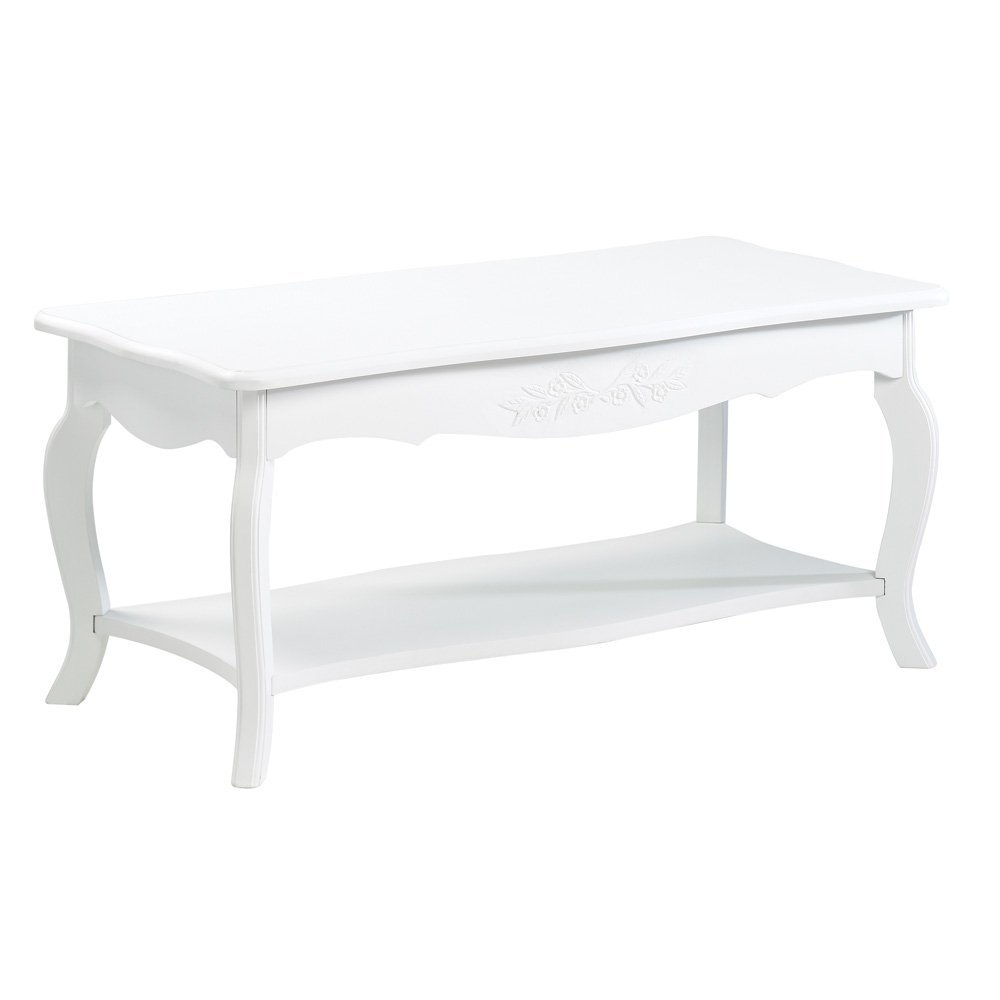 White Elegant Cottage Home Style Coffee Cocktail Table
