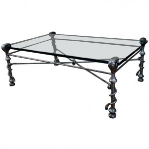 5 best wrought iron coffee tables iron legs for a strong for Glass top coffee table with wrought iron legs