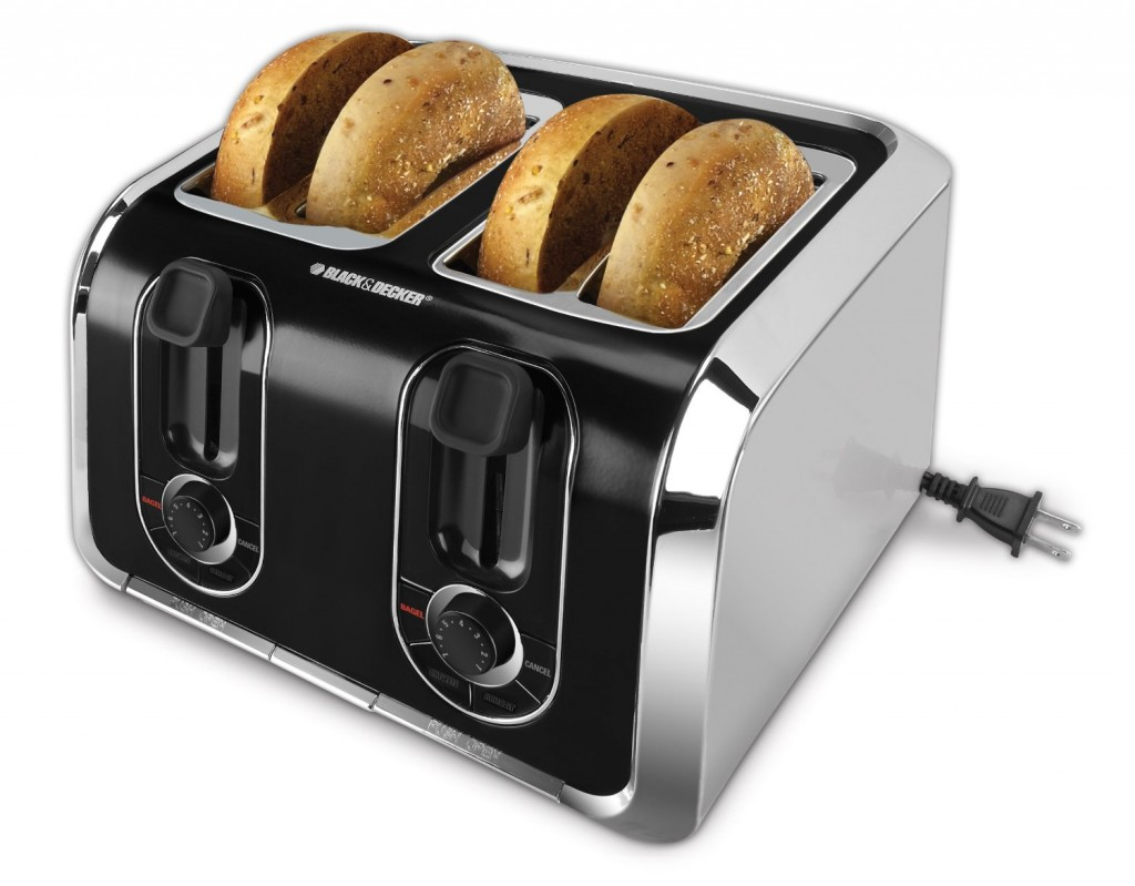 Black & Decker Stainless-Steel 4 Slice Toaster