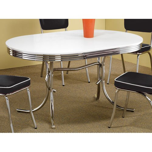 Coaster 50's Retro Nostalgic Style Oval Dining Table