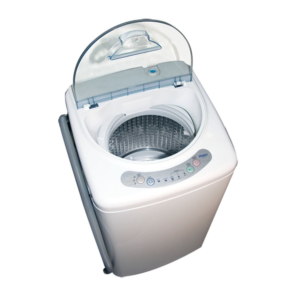 steel tub this portable and compact washer from haier is able to hold