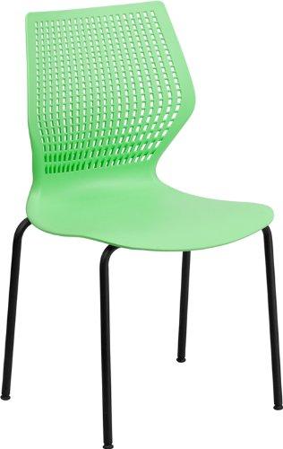 Hercules Series 770 lb. Capacity Designer Stack Chair with Black Frame