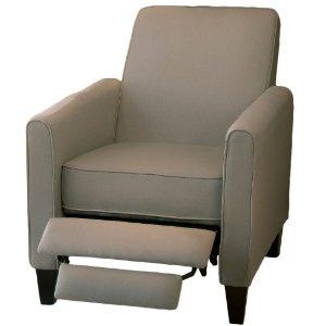 Lucas Grey Recliner Club Chair