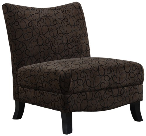 Monarch Straight Back Swirl Fabric Accent Chair