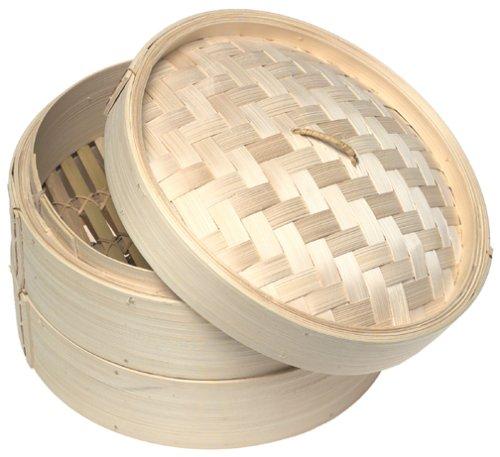 Norpro Deluxe 3-Piece Bamboo Steamer Set