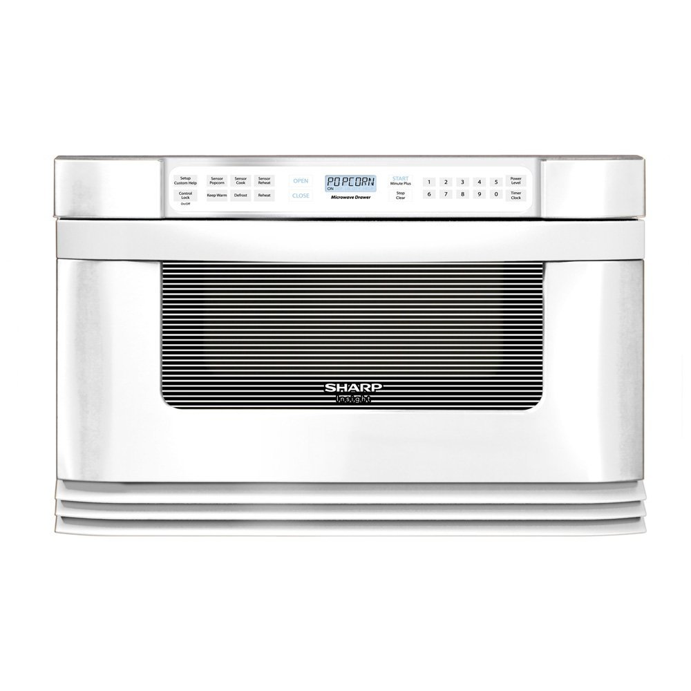 SHARP Microwave Drawer, 1000W, 1.0 Cu Ft